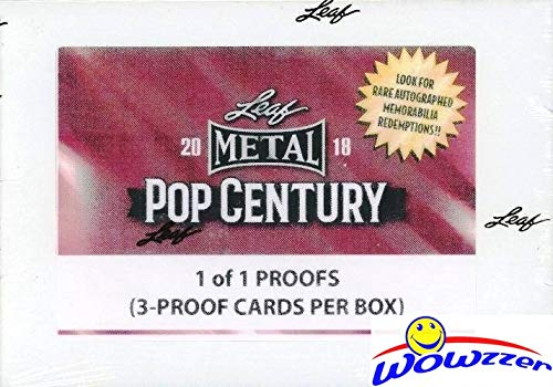 2018 Leaf Metal Pop Century 1/1 PROOF Pre-Production Factory Sealed Box with THREE (3) Actual 1/1 Pre-Production Proofs from this Popular Release! WOWZZER!