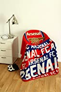 Official Arsenal FC Blanket Colour: Red Great Gift For Any Arsenal Fc Fan The Football Fleece Blanket is a classic design in their famous club colours. It measures approximately 152cm x 127cm and is made from a soft and comfortable polyester fabric. ...