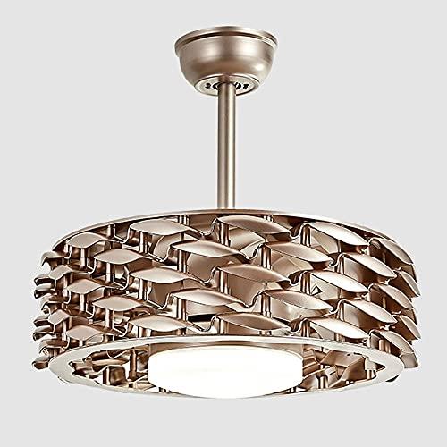 Yaseking Luz de ventilador sin hojas Luz de aire moderno LED invisible Purificación ambiental Formador de techo Ventilador de luz Ventilador de techo LED (Blade Color : Golden)