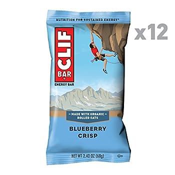 CLIF BAR - Energy Bar - Blueberry Crisp  2.4 Ounce Protein Bar 12 Count