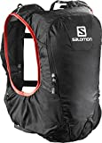 SALOMON Skin Pro 10 Set Backpack, Unisex Adulto, Negro (Black/Bright Red), 10 L