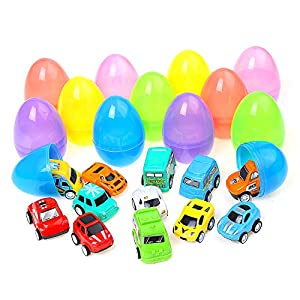 lokipa 12 easter eggs toy filler easter surprise toy egg filled with urban vehicle trafficand speed racer LOKIPA 12 Easter Eggs Toy Filler Easter Surprise Toy Egg Filled with Urban Vehicle Trafficand Speed Racer 51VPbRoZmIL