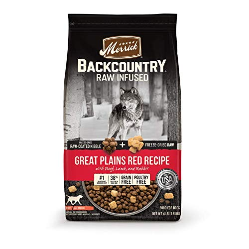 Merrick Backcountry Raw Infused Grain Free Dry Dog Food Great Plains Red Recipe - 20 lb. Bag