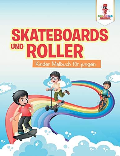 Skateboards und Roller: Kinder Malbuch für jungen