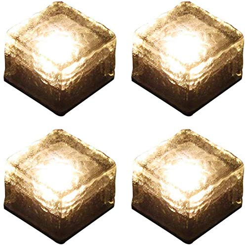 ソーラーライト ガーデンライト 4個セット 太陽光パネル充電 埋め込み式 暖色系 電球色 高輝度 IP68防水 自動点灯/消灯 屋外 景観照明 電気代不要 玄関先/庭/芝生/車道/歩道(4個, 黄1)