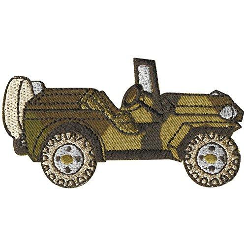 AUFNÄHER - Militärwagen - 06082 - Gr. ca. 8,5 x 5 cm - Patches Stick Applikation