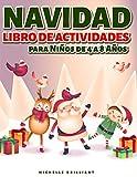 Navidad Libro de actividades para Niños de 4 a 8 Años: 50 páginas con temas navideños que entretendrán a los niños y los involucrarán en actividades ... detectar diferencias, laberintos y más)