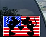 Image: Mickey And Minnie Mouse Kissing | Car Truck Vinyl Decal Art | Wall Sticker USA | Disney Fun Adorable Cute Love Heart Sweet