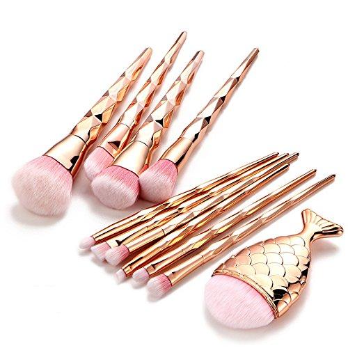 Posional Ensemble de Pinceaux de Maquillage, 1PCS Multi Fonctionnel Brillant Soyeux et Denses Pinceaux Maquillage Yeux pour Fusion de Fond de Teint Concealer Yeux