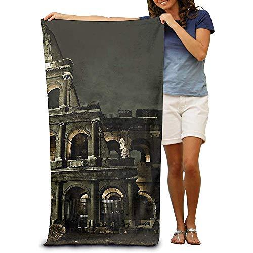 utong 100% Baumwolle Strandtücher 80x130cm Quick Dry Handtuch für Schwimmer Rome Beach Blanket