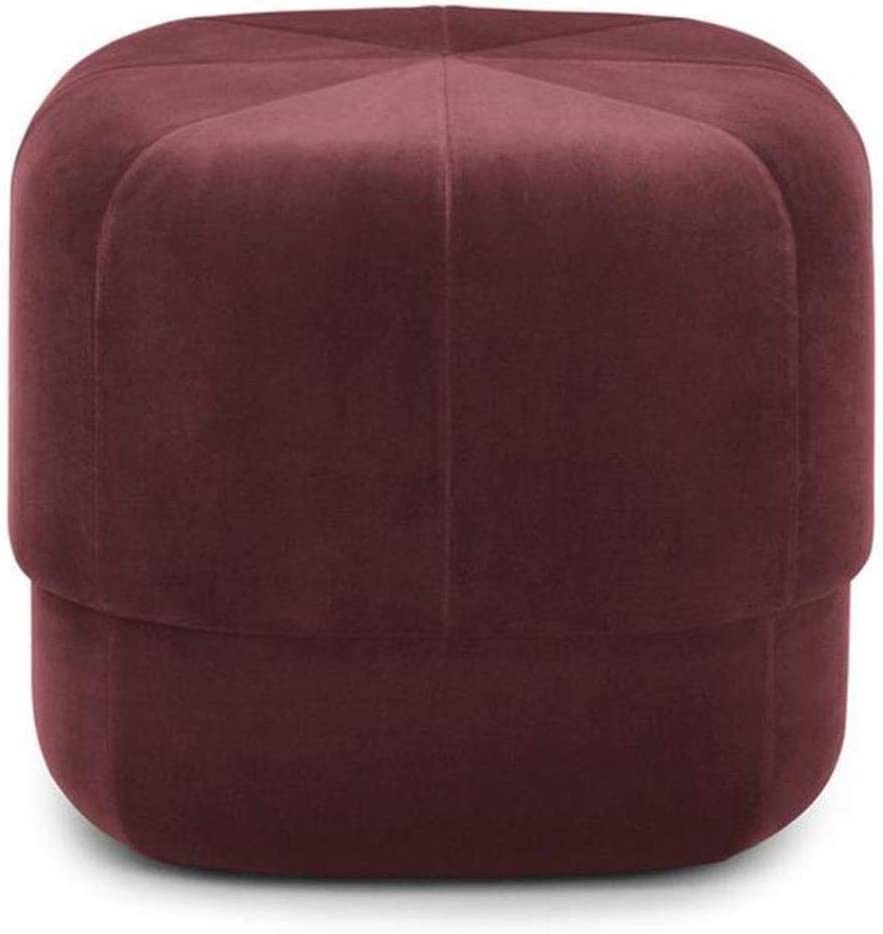 BJLWTQ Shoe Bench Shipping included Stools San Diego Mall Porto Brushed - Suede Luxur Drum Pouffe