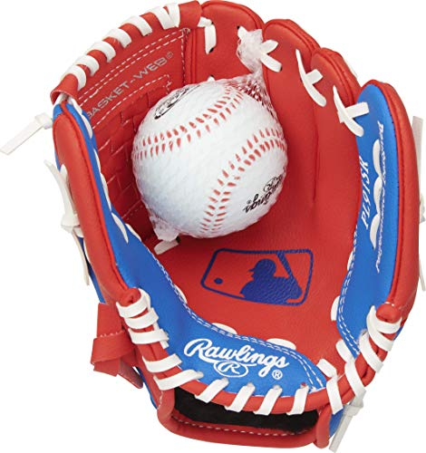 Rawlings Players Series Youth Tball/Baseball Glove with Ball, Right Hand...