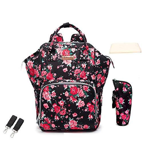 Große Mutterschaft Mama Wickeltasche Rucksack mit USB wasserdichte Baby Taschen für Mama Mutter Pflege Kinderwagen Wickeltasche