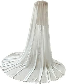 3M Long Chiffon One Layer Wedding Cape Elegant Bridal Jacket Cheap Boleros