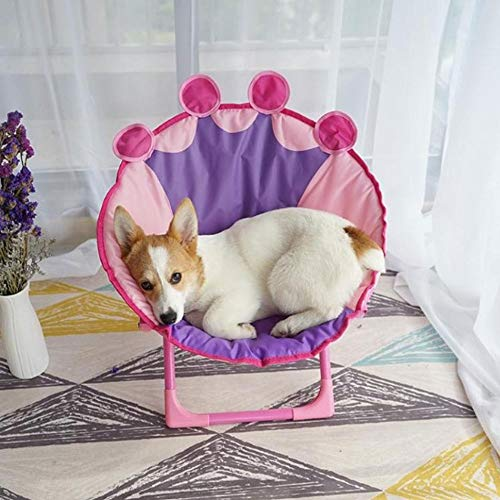 Pet Nest, hondenmand Pet Ice Pad Nest Non-stick Hair Hangmat Puppy Klapstoel Zonnebaden Cat Chair, Summer (Color : A)