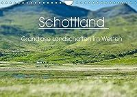 Schottland - grandiose Landschaften im Westen (Wandkalender 2022 DIN A4 quer): Wunderbare Highlands und Hebriden-Inseln (Monatskalender, 14 Seiten )