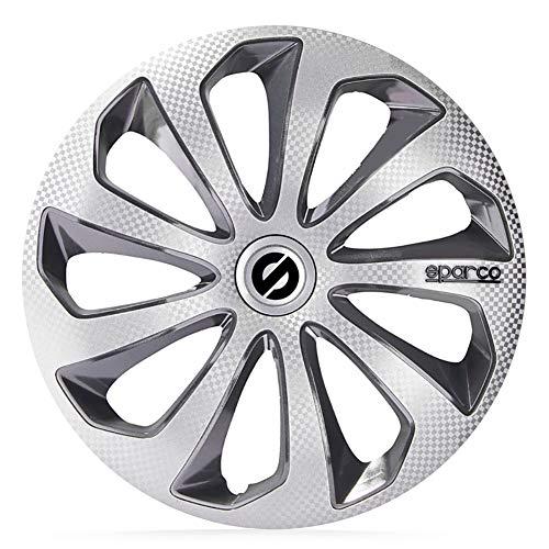 SPARCO Jeu d'enjoliveurs Sicilia 13-inch Argent/Gris/carboné