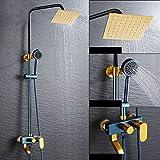 BOOSSONGKANG Ducha Juego de grifería de ducha de aluminio Ducha de mano azul Interruptor de agua fría y caliente para baño Grifo de bañ