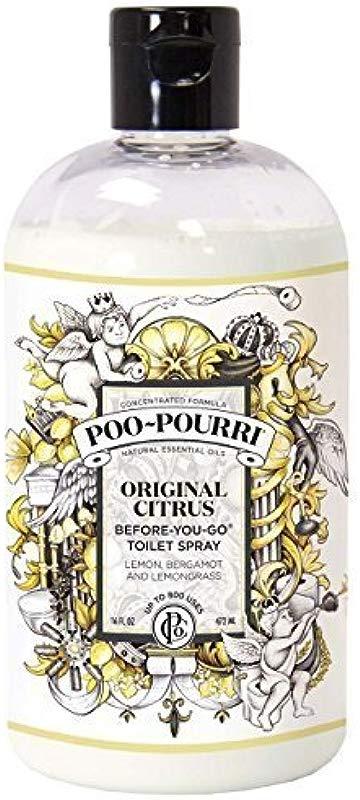 Poo Pourri Before You Go Toilet Spray 16 Ounce Refill Bottle Original Scent