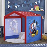 Disney Mickey Mouse Indoor Playhouse with Fabric Tent for Boys and Girls by Delta Children - Great Sleep or Play Area for Kids - Fits Toddler Bed