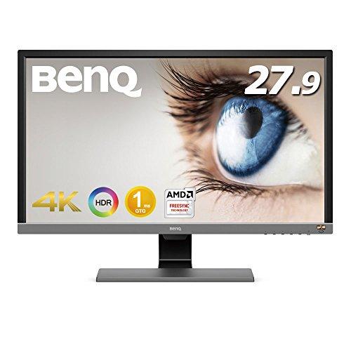 BenQ ゲーミングモニター ディスプレイ EL2870U 27.9インチ/4K/HDR/TN/1ms/FreeSync対応/HDMI×2/DP1.4/スピ...