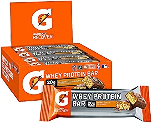 Gatorade Whey Protein Recover Bars, Peanut Butter Chocolate, 2.8 ounce bars, 6 Count