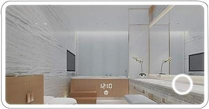 GRJ Household Items& espelho de banheiro montado na parede, espelho de pendurar sem moldura grande retangular espelho com ...