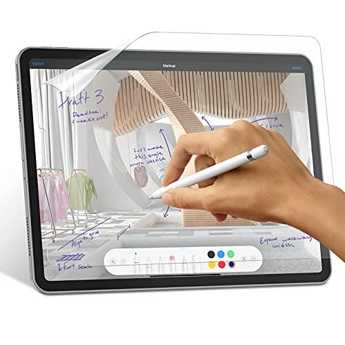 SPARIN 2 Stück Paper Folie Kompatibel mit iPad Pro 12.9 2021/2020, PET Matte Schutzfolie Schreiben und Zeichnen wie auf Paper mit Keine Blendung, Paper Displayschutzfolie Matt