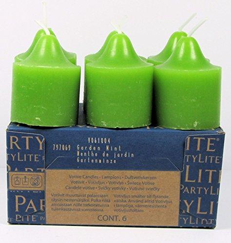Unbekannt PartyLite 6 Votivkerzen Gartenminze aus der Reihe Frisch; Signaturduft