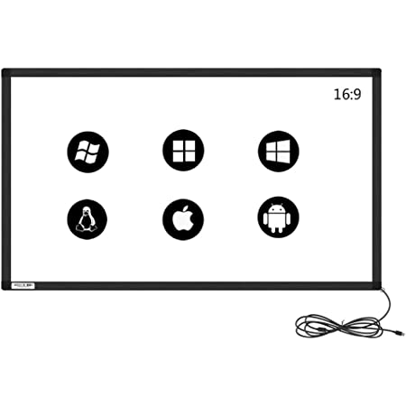 5:4 15 to 27 10 Touch Point IR Touch Screen,Infrared Touch Panel,IR Touch Overlay Kit with Glass Plug and Play 19