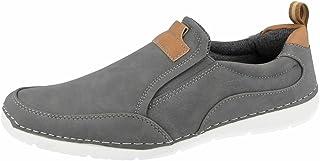 Chaussures bateau à enfiler en cuir synthétique pour homme