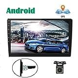 Android Coche Radio GPS CAMECHO 10 Pulgadas Pantalla táctil Completa Bluetooth WiFi Receptor FM Teléfono móvil Espejo Enlace Dual USB + Cámara Trasera