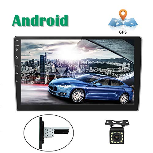 Androides Autoradio GPS 1DIN 2DIN CAMECHO 10 Zoll voller Touch Screen Bluetooth WiFi FM Empfänger Handy-Spiegel-Verbindung Doppel-USB + Rückfahrkamera