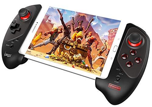 QKa Wireless Game-Controller, Wireless Joystick Gamepad Mit 5-10 Zoll-Teleskop-Halter Für Handy/Tablet/Android/Ios/Android TV Box
