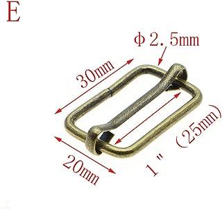 25pcs Metal Sliding bar Strap Adjuster Buckles Slider (Antique Brass, 1''(25mm))