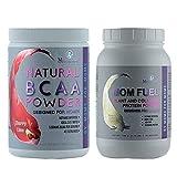 Cherry Lime BCAA Powder Preworkout for Women & Vanilla Momsanity Protein Powder for Women + Free Delicious Recipe Guide PDF (Cherry Lime + Vanilla Bundle)