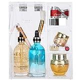 Caja de Almacenamiento de Maquillaje, Organizador de cosméticos Transparente a Prueba de Polvo de Estilo japonés para Sujetar Pincel de Maquillaje lápiz Labial o Brillo de Labios
