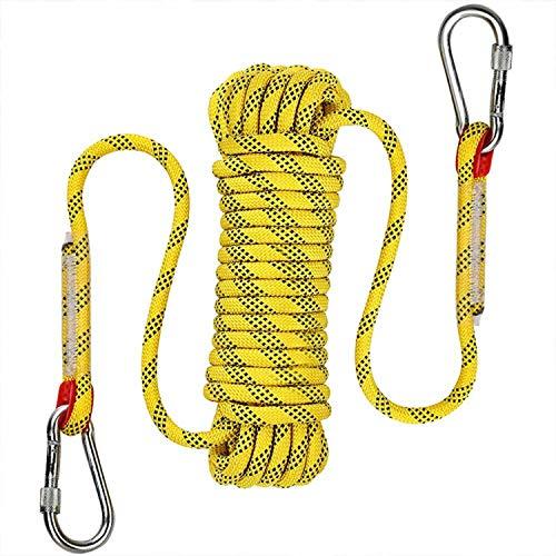 Cuerda de supervivencia de emergencia Victosoaring cuerda de escalada al aire libre cuerda de escape equipo de escalada de rescate de fuego cuerda de paracaídas (10 mm × 30 m)