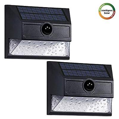 Westinghouse Intelligent Solar Motion Sensor Lights Outdoor, Premium 30 LED 800 Lumens, Teardrop Seeded Shade, Wireless Security Light for Garden, Patio, Yard (2pk)