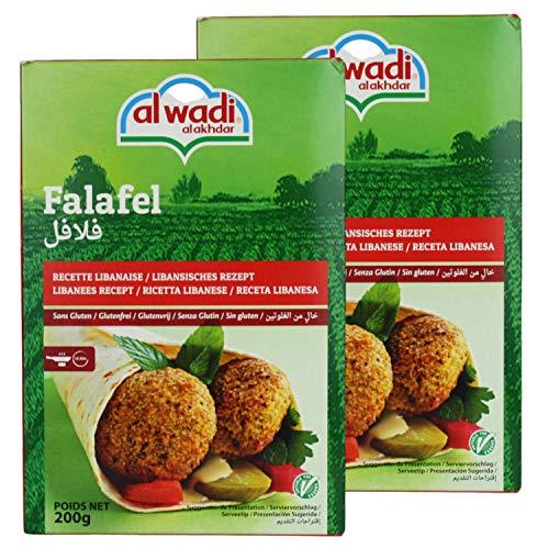 Al Wadi - Orientalische Falafelmischung - Vegan vegetarische Falafel-Fertigmischung im 2er Set á 200 g