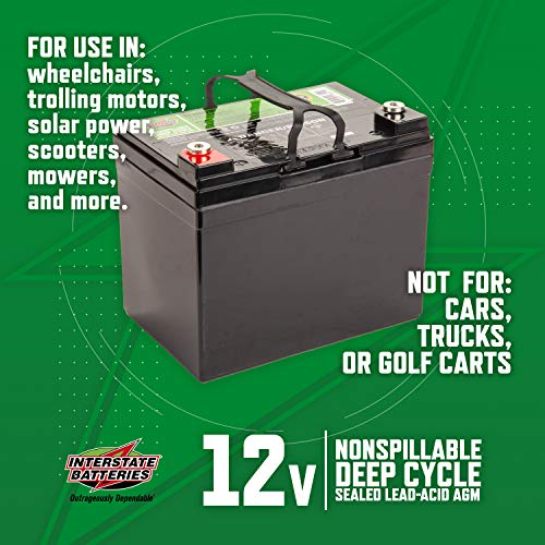 Interstate Batteries AGM Deep Cycle Battery
