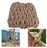 Filet de clôture de lit pour enfants, épaisseur de corde de 8 mm, filet de corde de chanvre d'escalade pour enfants, filet décoratif de main courante d'escalier pour enfants, filet de clôt(Size:2×3m)
