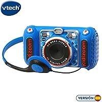 VTech- KIDIZOOM Duo DX 1 Azul. Cámara de fotos digital con 10 funciones diferentes (3480-520022)