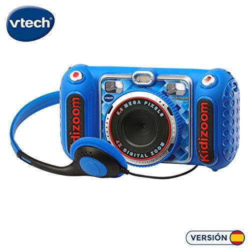 VTech- KIDIZOOM Duo DX 1 Azul. Cámara de fotos digital con
