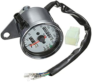 Para Moto Dual cuentakilómetros velocidad para luz de posición LED de gran calibre neutro