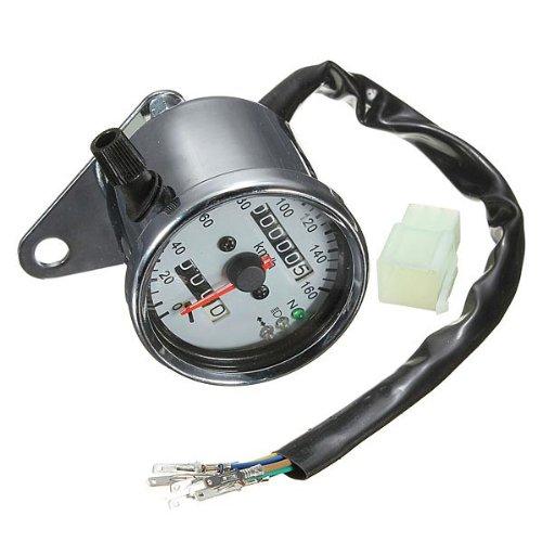 Moto Doppio Contachilometri Tachimetro Gauge LED Accendere Neutral luce di segnale