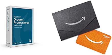Dragon Professional Individual 15, Dictate Documents and Control your PC – all by Voice, [PC Disc] with $50 Gift card