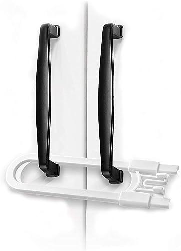Adoric Sliding Cabinet Locks, 4-Pack U Shaped Baby Safety Locks, Childproof Cabinet Latch for Kitchen Bathroom Storag...