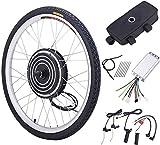 Viribus 36V 500W Kit de Conversión para Bicecleta Eléctrica Kit de Conversión de Bicicleta Electric para Rueda Delantera 26'' Bike Conversion Kit con Controlador de Modo Dual (36V 500W)