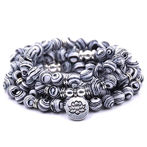 Banglew Armband voor dames en heren, multi ring, natuursteen, kristallen armbanden, voor mannen en vrouwen